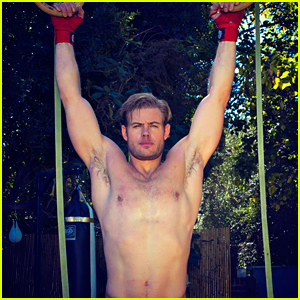 Trevor Donovan Goes Shirtless, Shows Off His New Homemade Home Gym
