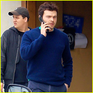 Alden Ehrenreich Chats on His Phone While Out in Beverly Hills