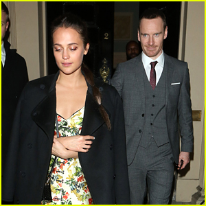 Alicia Vikander & Michael Fassbender Couple Up at 'Tomb Raider' After Party!