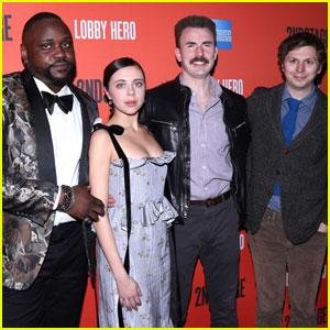 Chris Evans Celebrates Opening Night With 'Lobby Hero' Cast