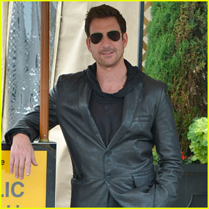 Dylan McDermott Looks Dapper While Waiting at the Valet