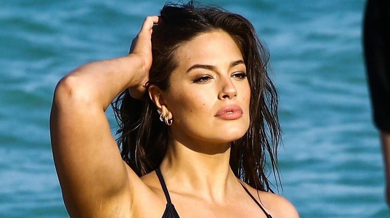 Off her bikini top