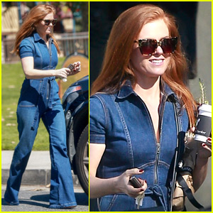 Isla Fisher Rocks a Denim Jumpsuit While Shopping in Beverly Hills
