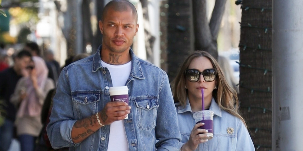 db514a0ab50 Jeremy Meeks   Chloe Green Match in Denim Outfits While on a Coffee Date!