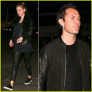 Jude Law & Girlfriend Phillipa Coan Couple Up for Sushi Date