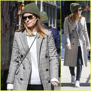 Kate Mara Sports a Green Hat on St. Patrick's Day in NYC