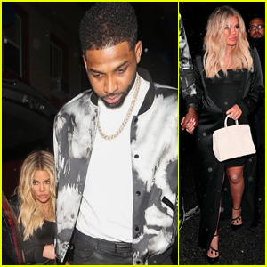 Khloe Kardashian & Tristan Thompson Arrive for His Birthday Party!