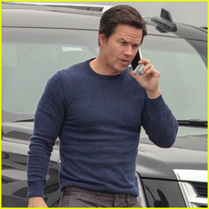Mark Wahlberg Wears a Tight Sweater on 'Instant Family' Set