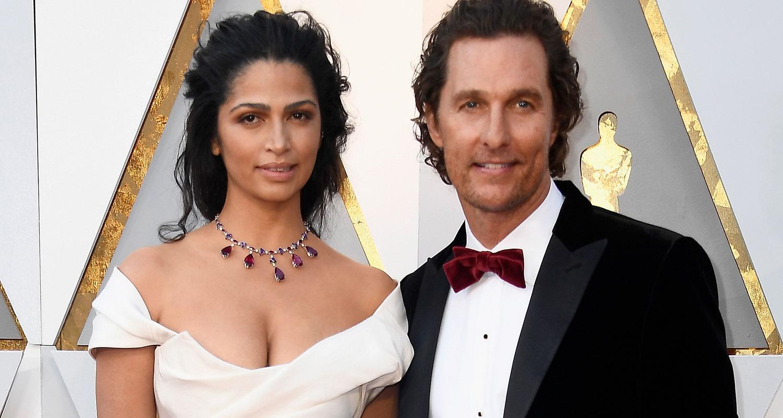 Matthew McConaughey & Camila Alves Couple Up Oscars 2018 ...