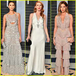 Nina Dobrev, Julianne Hough, & Ashley Tisdale Bring Glitz & Glamour to Vanity Fair Oscars Party!