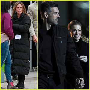 Rachel Bilson & Eddie Cibrian Film 'Take Two' as His Wife LeAnn Rimes Visits Set!