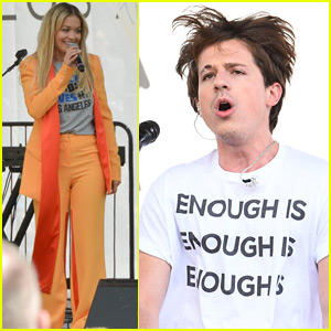 Rita Ora & Charlie Puth Perform at March for Our Lives in LA!