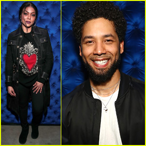 Taraji P. Henson Supports Jussie Smollett at Album Listening Party in NYC!