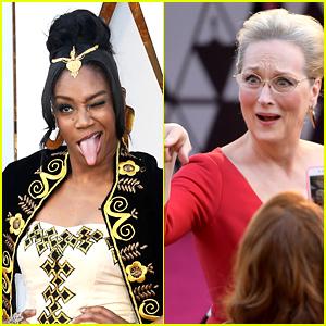 Tiffany Haddish Jumped Over a Rope to Meet Meryl Streep at Oscars 2018 (Video)