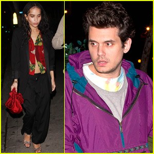 Zoe Kravitz, John Mayer, & More Stars Check Out a Show in WeHo!