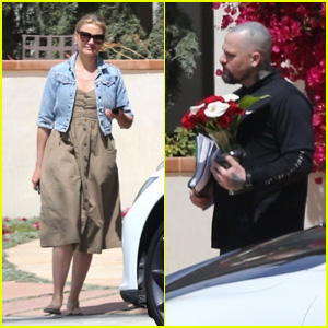 Cameron Diaz & Husband Benji Madden Head Out for the Day With Cameron's Mom!