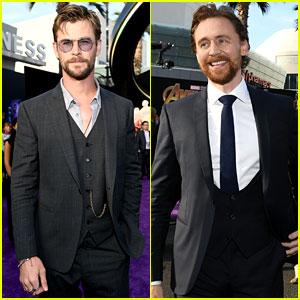 Chris Hemsworth & Tom Hiddleston Represent 'Thor' at 'Avengers: Infinity War' Premiere