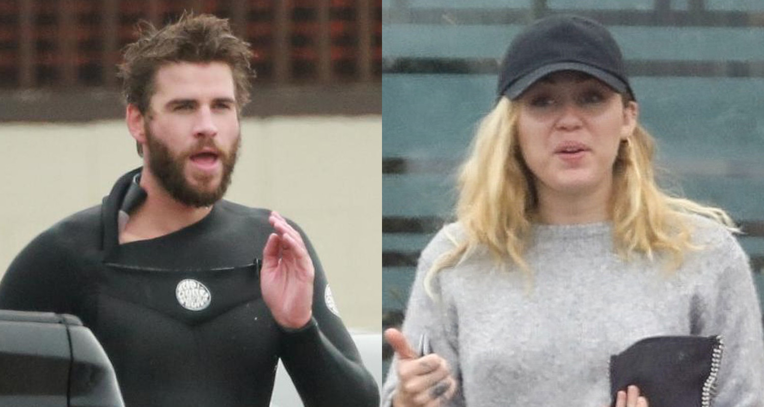 Liam Hemsworth Grabs Breakfast With Miley Cyrus Before