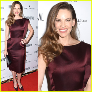 Hilary Swank Celebrates Her 'LA Confidential' Cover in Beverly Hills!