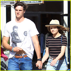 Joey King & Boyfriend Jacob Elordi Coordinate Their Outfits at The Grove