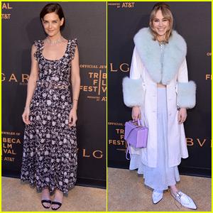 Katie Holmes & Suki Waterhouse Stun at 'Bvlgari' Premiere at Tribeca Film Festival 2018