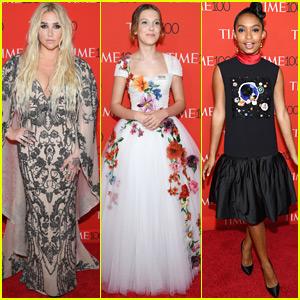 Kesha, Millie Bobby Brown, & Yara Shahidi Go Glam for Time 100 Gala 2018!