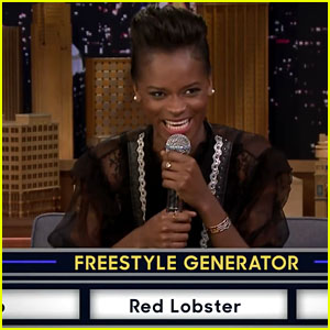 Black Panther's Letitia Wright Raps About Red Lobster