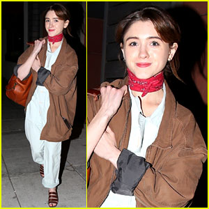 Natalia Dyer Rocks Blue Jumpsuit While Stepping Out for Sushi