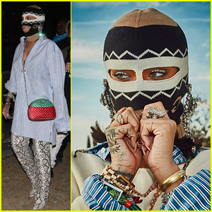 Rihanna Keeps Her Face Covered in Latest Coachella Look!