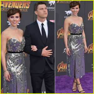 Scarlett Johansson & Colin Jost Make Red Carpet Debut!