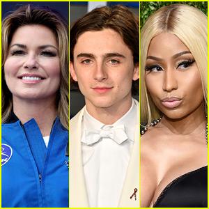 Shania Twain Partes con Nicki Minaj, Timothee Chalamet, & Más en Coachella