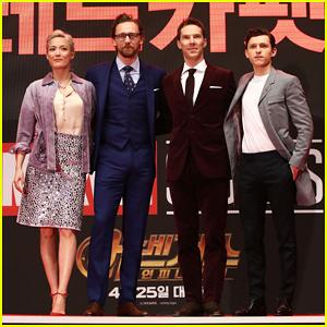 Tom Hiddleston, Benedict Cumberbatch & Tom Holland Premiere 'Avengers Infinity War' in Seoul!