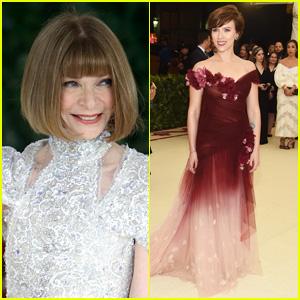 Anna Wintour Supports Scarlett Johansson's Choice to Wear Marchesa at Met Gala 2018