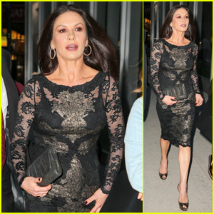 Catherine Zeta-Jones Looks Chic While Stepping Out to Promote 'Cocaine Godmother'!