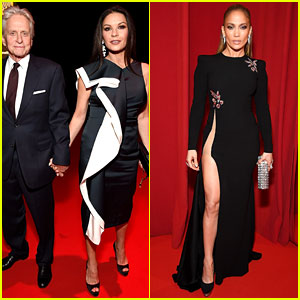 Catherine Zeta Jones Jennifer Lopez Look Fierce At Robin Hood Foundation Benefit