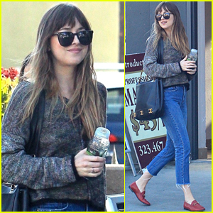 Dakota Johnson Grabs Coffee with a Friend in LA