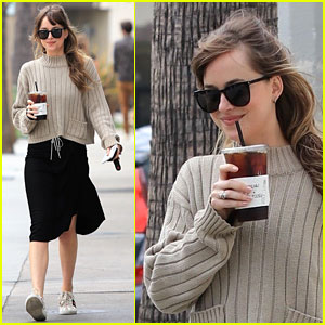 Dakota Johnson Keeps It Comfy & Chic for Her Coffee Run!