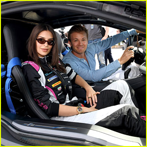Emily Ratajkowski Drives Race Car at ABB FIA Formula E Championship in Berlin!