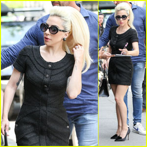 Lady Gaga Looks Chic While Heading to the Studio in New York City!