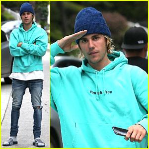 Justin Bieber Matches His Lamborghini 0042a3a0b76