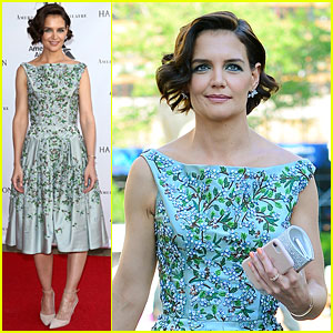 Katie Holmes Stuns in Blue Floral Gown at American Ballet Theatre Spring Gala 2018