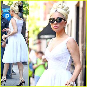 Lady Gaga Channels Marilyn Monroe in Latest Street Style Look