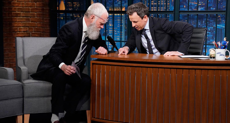David Letterman Gifts Seth Meyers A Tick on 'Late Night'!