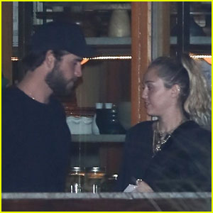 Liam Hemsworth & Miley Cyrus Couple Up For Late Night Dinner