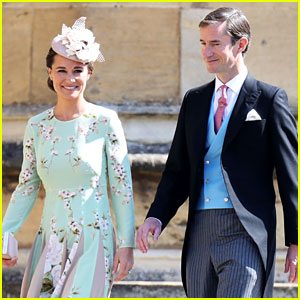 fac72a5e41 Pippa Middleton is joined by her husband James Matthews while arriving for the  Royal Wedding at St. George s Chapel at Windsor Castle on Saturday morning  ...