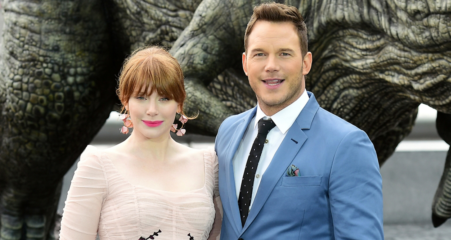 Bryce dallas howard and chris pratt dating? she stares at him like they are