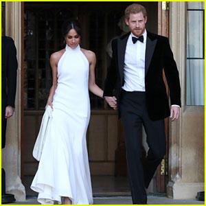 Meghan Markle Wows in Second Wedding Dress Alongside Dapper Prince Harry (Photos)