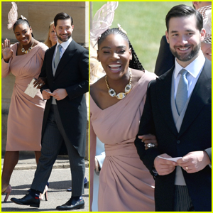 Serena Williams Royal Wedding.Serena Williams Holds On Close To Alexis Ohanian Arriving At Royal