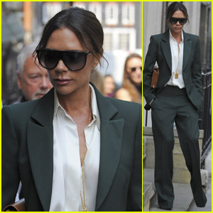Victoria Beckham Looks Stylish While Leaving Her Shop in London!
