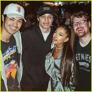 Ariana grande pete davidson attend kanye west kid cudis album ariana grande pete davidson attend kanye west kid cudis album listening party m4hsunfo